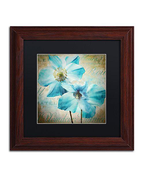 "Trademark Global Color Bakery 'Himalayan Blue I' Matted Framed Art, 11"" x 11"""