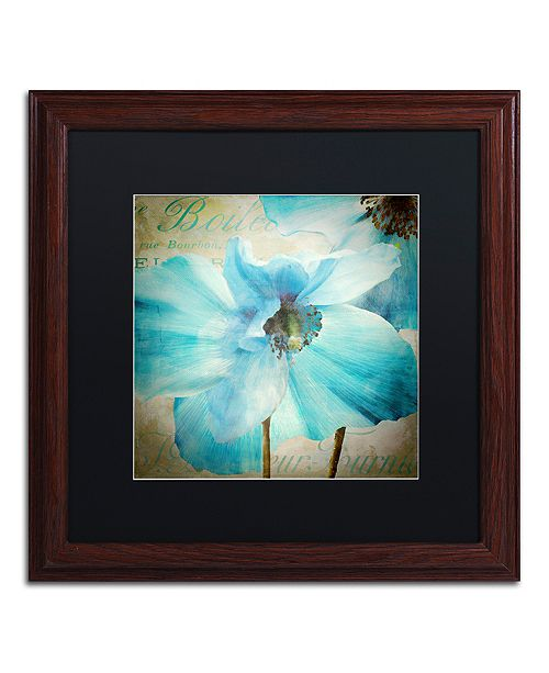 "Trademark Global Color Bakery 'Himalayan Blue Ii' Matted Framed Art, 16"" x 16"""