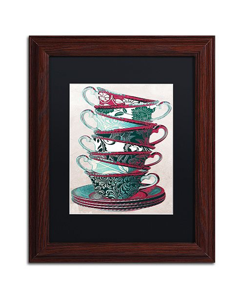 "Trademark Global Color Bakery 'Afternoon Tea Ii' Matted Framed Art, 11"" x 14"""