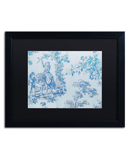 "Trademark Global Color Bakery 'Toile Fabrics V' Matted Framed Art, 16"" x 20"""