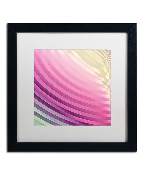 "Trademark Global Color Bakery 'Satin Iii' Matted Framed Art, 16"" x 16"""