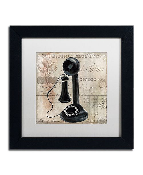 "Trademark Global Color Bakery 'Call Waiting I' Matted Framed Art, 11"" x 11"""