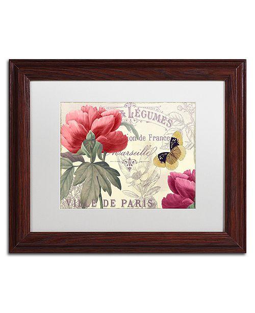 """Trademark Global Color Bakery 'Petals Of Paris V' Matted Framed Art, 11"""" x 14"""""""