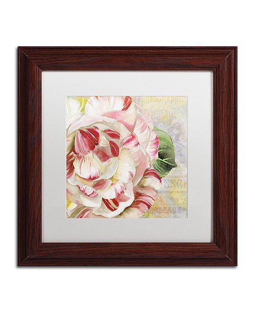"Trademark Global Color Bakery 'Camellias Ii' Matted Framed Art, 11"" x 11"""