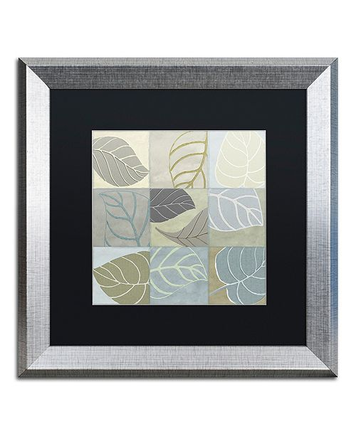 "Trademark Global Color Bakery 'Leaf Story Iv' Matted Framed Art, 16"" x 16"""