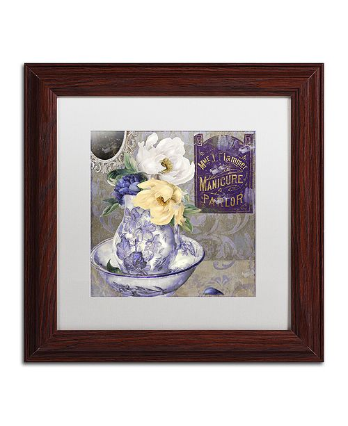 "Trademark Global Color Bakery 'Tableaux Ii' Matted Framed Art, 11"" x 11"""