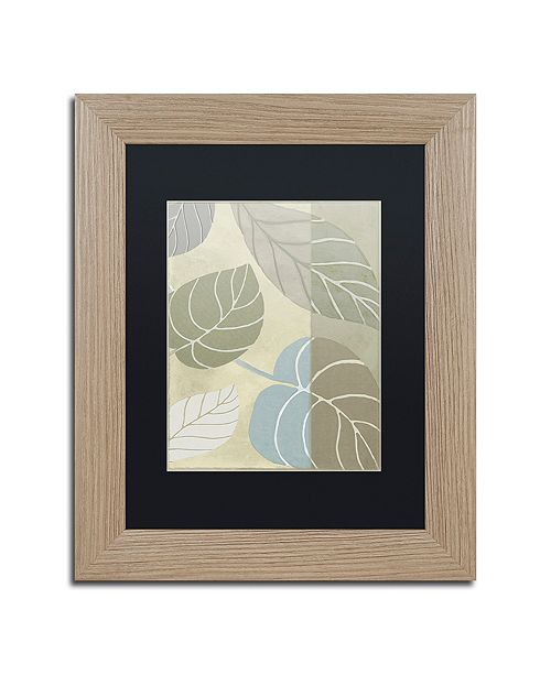"Trademark Global Color Bakery 'Leaf Story Vi' Matted Framed Art, 11"" x 14"""