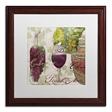 Color Bakery 'Wine Cellar I' Matted Framed Art