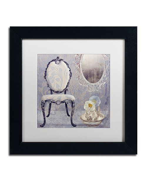 "Trademark Global Color Bakery 'Salon Ii' Matted Framed Art, 11"" x 11"""