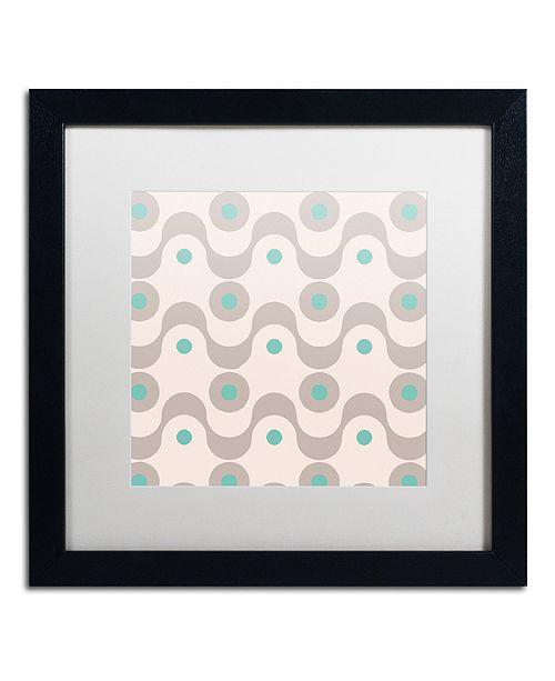 "Trademark Global Color Bakery 'Fifties Patterns Iii' Matted Framed Art, 16"" x 16"""