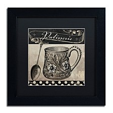 "Color Bakery 'Bistro Parisienne Iii' Matted Framed Art, 11"" x 11"""