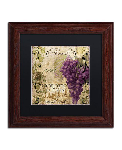 "Trademark Global Color Bakery 'Vino Italiano Ii' Matted Framed Art, 11"" x 11"""