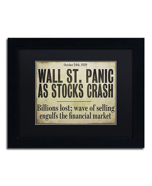 "Trademark Global Color Bakery 'Wallstreet' Matted Framed Art, 11"" x 14"""