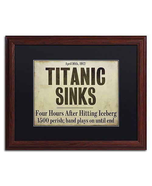 "Trademark Global Color Bakery 'Titanic' Matted Framed Art, 16"" x 20"""