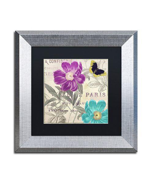 "Trademark Global Color Bakery 'Petals Of Paris Ii' Matted Framed Art, 11"" x 11"""