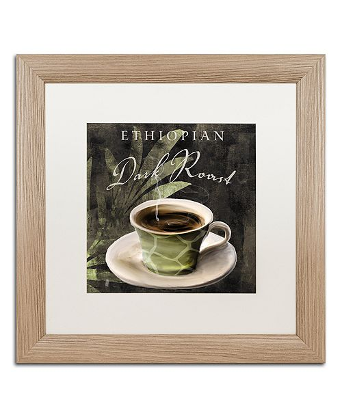 "Trademark Global Color Bakery 'Afrikan Coffee Iii' Matted Framed Art, 16"" x 16"""