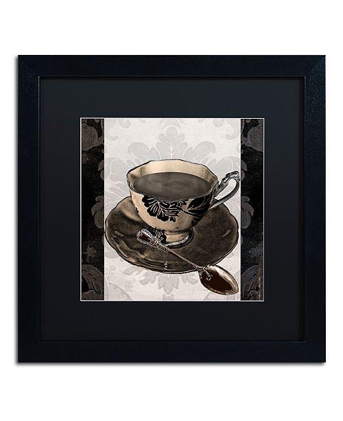 """Trademark Global Color Bakery 'Vintage Cafe Iv' Matted Framed Art, 16"""" x 16"""""""