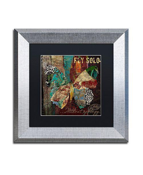 "Trademark Global Color Bakery 'Winging It I' Matted Framed Art, 11"" x 11"""