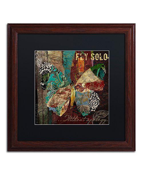 "Trademark Global Color Bakery 'Winging It I' Matted Framed Art, 16"" x 16"""