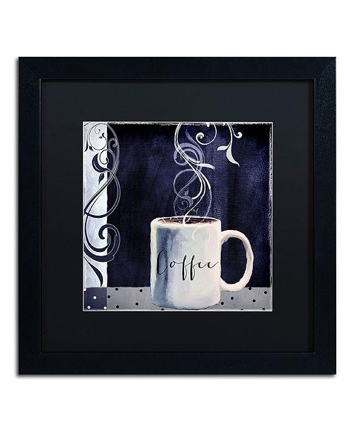 """Trademark Global Color Bakery 'Cafe Blue I' Matted Framed Art, 16"""" x 16"""""""
