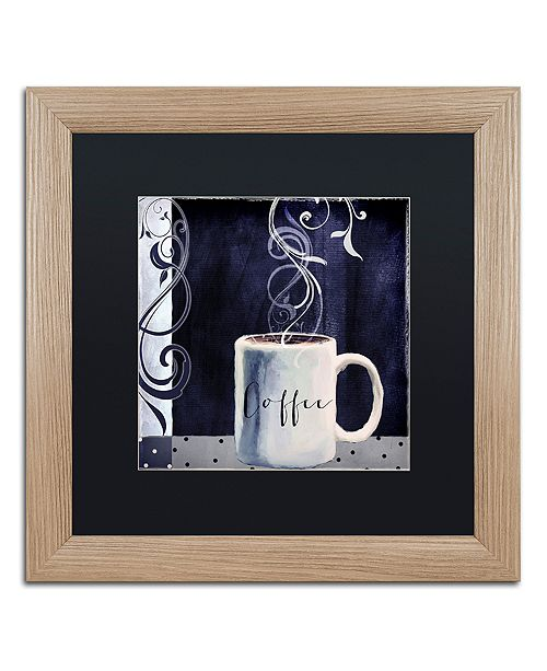 "Trademark Global Color Bakery 'Cafe Blue I' Matted Framed Art, 16"" x 16"""
