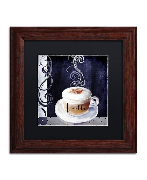 "Trademark Global Color Bakery 'Cafe Blue Ii' Matted Framed Art, 11"" x 11"""