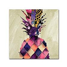 Color Bakery 'Pineapple Brocade Ii' Canvas Art