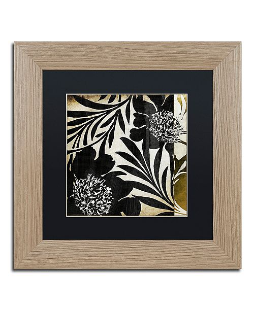 "Trademark Global Color Bakery 'Floral Jungle Lines I' Matted Framed Art, 11"" x 11"""