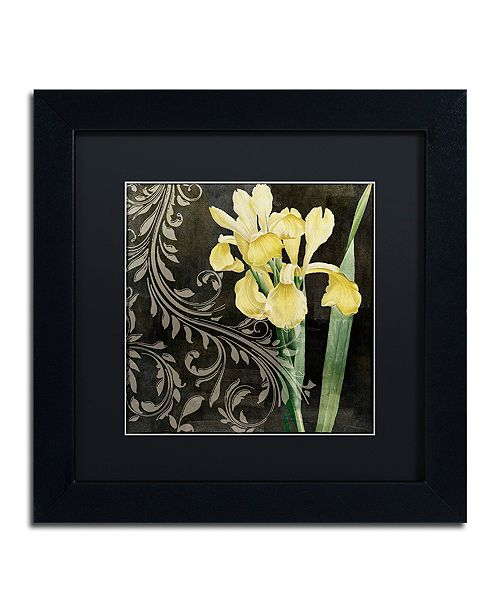 """Trademark Global Color Bakery 'Ode To Yellow Ii' Matted Framed Art, 11"""" x 11"""""""