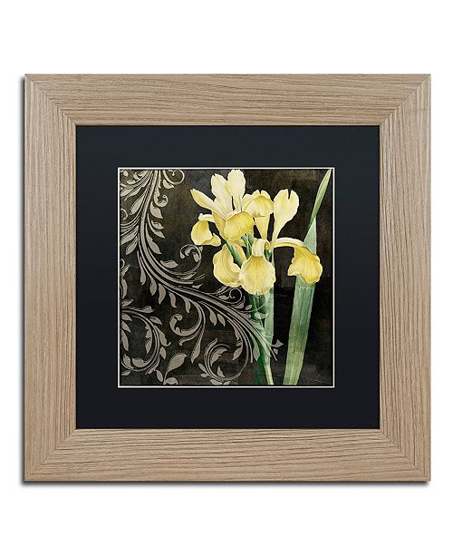 "Trademark Global Color Bakery 'Ode To Yellow Ii' Matted Framed Art, 11"" x 11"""