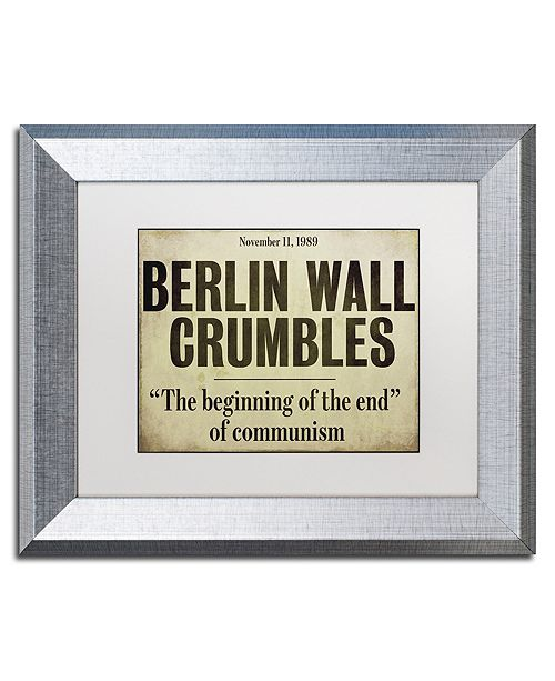 "Trademark Global Color Bakery 'Berlin Wall' Matted Framed Art, 11"" x 14"""