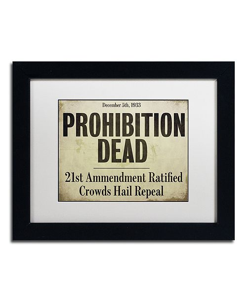 "Trademark Global Color Bakery 'Prohibition' Matted Framed Art, 11"" x 14"""
