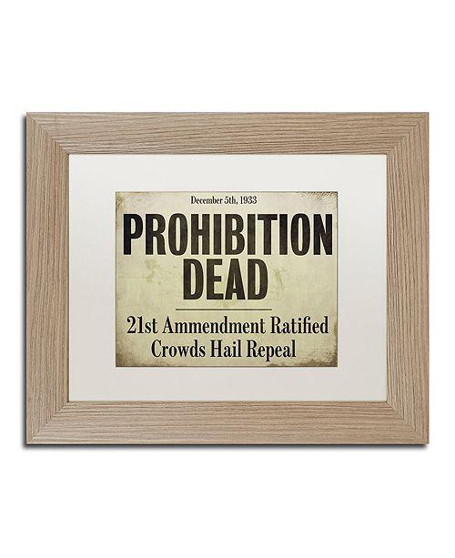 "Trademark Global Color Bakery 'Prohibition' Matted Framed Art, 11"" x 14"""