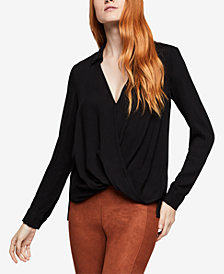 BCBGeneration Embellished Surplice Top