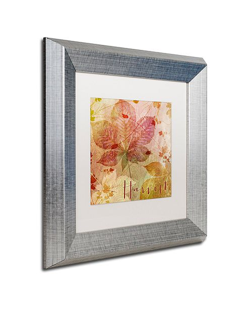 "Trademark Global Color Bakery 'October Pastel I' Matted Framed Art, 11"" x 11"""