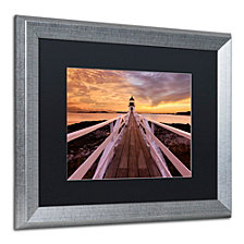 Michael Blanchette Photography 'Runway To The Sky' Matted Framed Art