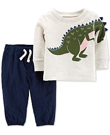 Carter's 2-Pc. Baby Boys Cotton Dinosaur Top & Pants Set