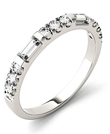 Moissanite Round and Baguette Stackable Ring (1/2 ct. tw.) in 14k White Gold