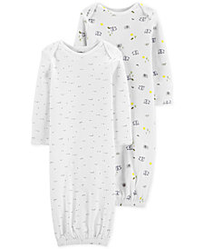 Carter's Little Planet Organics Baby Boys & Girls 2-Pk. Printed Cotton Sleeper Gowns