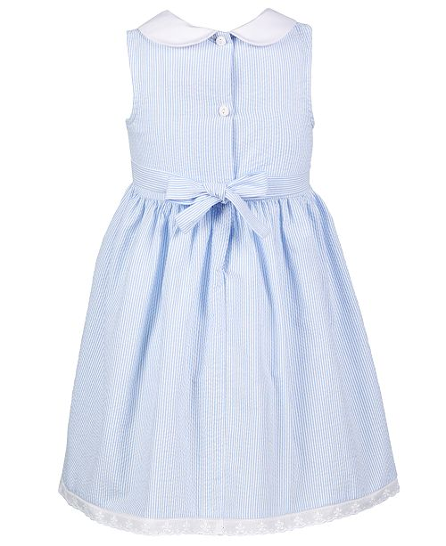 4caf195bacf28 Good Lad Toddler Girls Smocked Seersucker Nautical Dress & Reviews ...