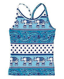 Masala Baby Girl's Acti-Play Tank Top Passage to India Turquoise
