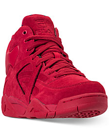 Fila Boys' The Cage High Top Athletic Sneakers from Finish Line