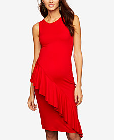 A Pea In The Pod Maternity Ruffle-Front Dress