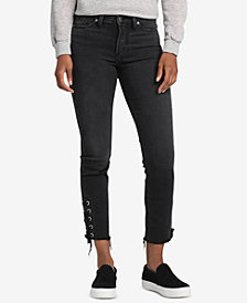Silver Jeans Co. Mazy Lace-Up Slim-Leg Jeans