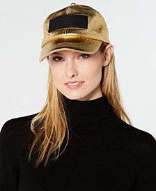 DKNY Metallic Twill Baseball Cap, Created for Macy's