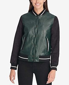 Levi's® Faux-Leather Bomber Jacket