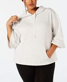 Ideology Plus Size Wide-Sleeve Hoodie, Created for Macy's