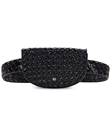 Ponticelli Woven Leather Belt Bag