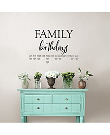 Family Birthdays Wall Quote