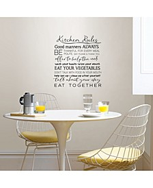 Kitchen Rules Wall Quote